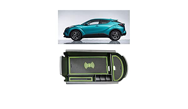 LFOTPP Car Center Console Storage Box Glasses Box Customized for 2018 C-HR with Wireless Charging