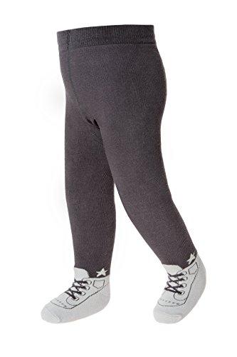 Baby-Emporio - Baby Jungen Strumpfhosen die wie Schuhe aussehen - Rutschfeste Sohlen-Komfort Taille-6-12 Monate