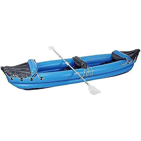 MWS573 – Kayak hinchable biplaza ( 1 adulto + 1 niño) en varios colores 320x70cm (Azul)