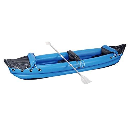 Kayak hinchable biplaza ( 1 adulto + 1 niño) en varios colores 320x70cm - Azul