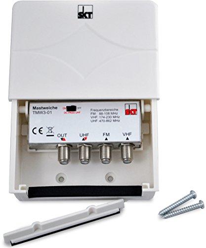 SKT TMW00301 3-fach Mastweiche 3 Eingänge UKW VHF UHF Combiner