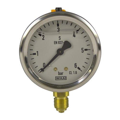 Manometer, NG63, 0-6 bar - WIKA 213.53 - 9021981 (Manometer Flüssigkeit)