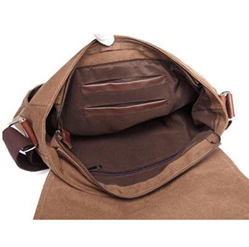 Descuento 2018 De Verdad Spalla MYLL Uomini Canvas Messenger Bag Tempo Libero Satchel Grey Comprar Barato Edición Limitada SPbSgh