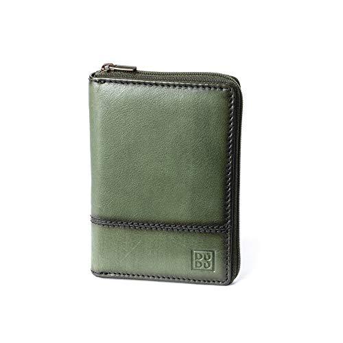 Andre Leder (Herrenbrieftasche aus echtem Kalbsleder mit Rundum-Reißverschluss von DUDU Grün)