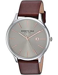 Kenneth Cole Men's Casual watch KC15096003 Beige Leather Quartz Fashion Watch