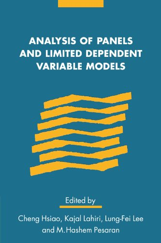 Analysis of Panels and Limited Dependent Variable Models Paperback