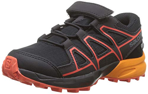 Salomon Speedcross CSWP K, Zapatillas de Trail Running Unisex Niños, Negro/Naranja Black/Tangelo/Cherry...