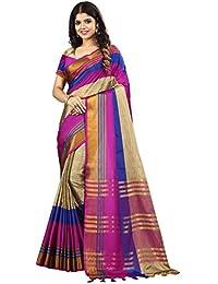 Vaidehi Fashion Poly Cotton Saree With Blouse Piece