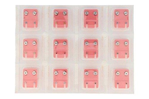 24 Ohrstecker (12 Paar) Gesundheitsstecker mini Stahl mit 12 - Ohrringe Sterile