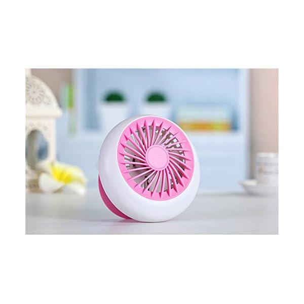 ZIJIFAN-Aire-acondicionado-Ventilador-USB-mini-porttil-de-mano-recargable-llevar-ninguna-hoja-albergues-estudiantiles-del-ventilador-ventilador-de-mesa-Rosa