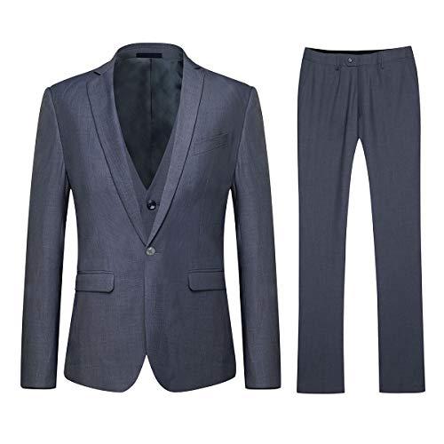 Youthup abito uomo elegante completo classico 3 pezzi slim fit blazer gilet vestito pantalone
