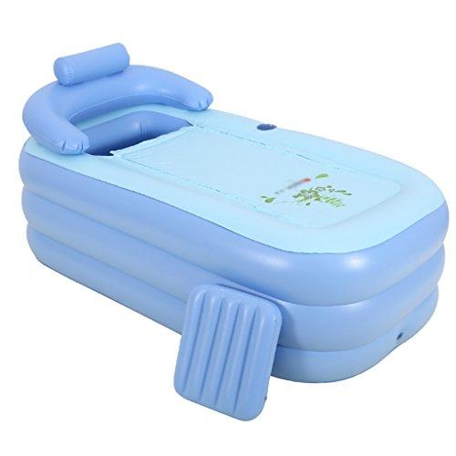 Baignoire Gonflable de ménage Adulte Bain Baril Pliable rembourré Bain pour Enfants 160 * 84 * 64 cm Baignoires et sièges de Bain (Color : Blue)