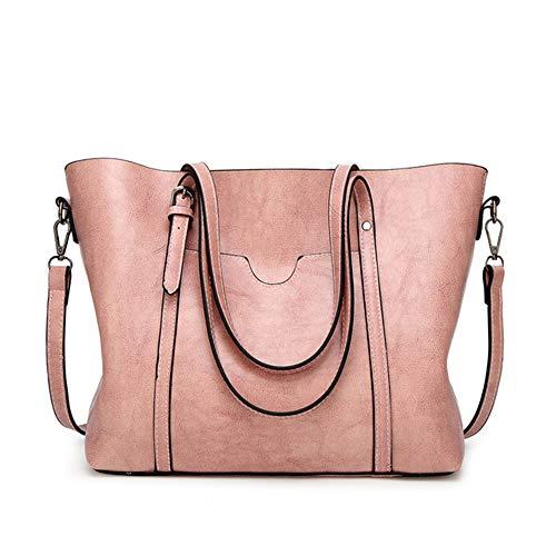 HGHGWomen Bag Leder Handtaschen Aus Leder Handtaschen Mit Handtasche Tasche 2019 Frauen Umhängetasche Big Tote sac Grau 32 * 29 * 12 cm