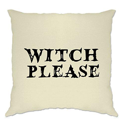lustige Halloween Kissenhülle Witch Bitte Neuheit Slogan Natural One Size