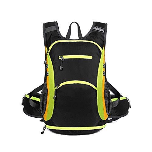 Zaino per attività all'aperto/bicicletta, zaino da escursionismo/spalla femmina, impermeabile, traspirante, ultra leggero, nero