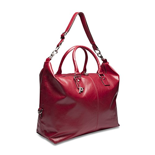 PICARD Sac de voyage Cuir Weekend Unisex Rouge 4679 red