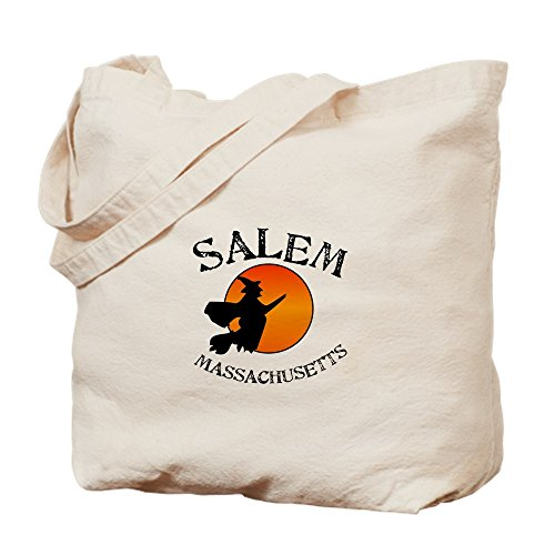 CafePress Salem Massachusetts Tragetasche Hexe, canvas, khaki, M