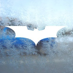 Aufkleber Batman White Decal Window Laptop Vinyl White Sticker (Batman-laptop-aufkleber)