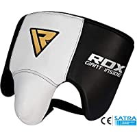 RDX Groin Guard Cow Hide Leather MMA Abdo Groin Cup Boxing Abdominal Protector Muay thai Jock Strap(CE Certified Approved)