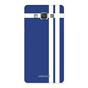 Neo World White Stripes Blue Back Case Cover for Samsung Grand Max