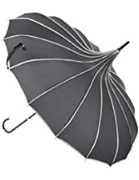 Topwedding preuve de vent parasol pagode, Noir