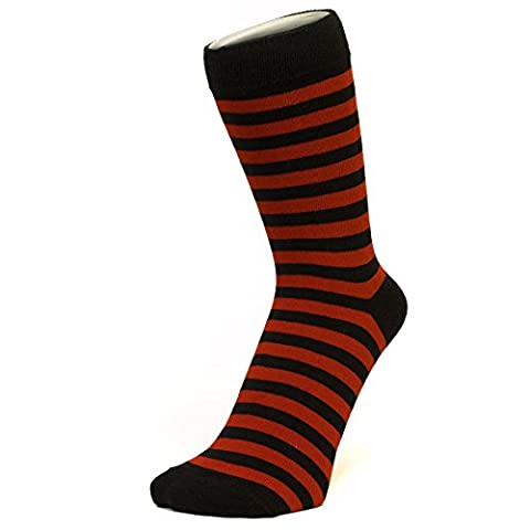 Red And Black Thin Striped Ankle Socks (Size: 4-7)