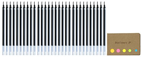 Uni-ball UMR-10 Refills for Signo Gel Ink Ballpoint Pen, UM-153, 1.0mm, Blue Black Ink, 30-pack, Sticky Notes Value Set (Pen Ink Refill Blue)