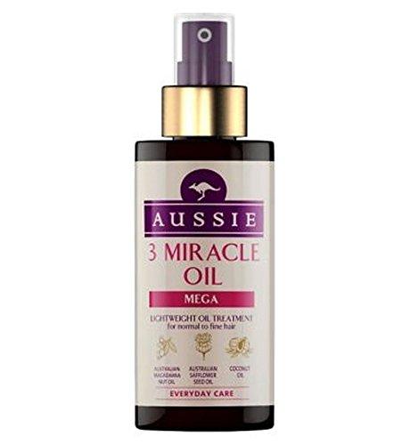 Aussie 3 Méga Miracle De L'Huile Pour La Normale À La Fin 100Ml De Cheveux - Lot De 2