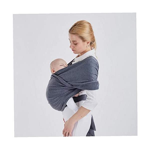 Baby Wrap Carrier Baby Carrier Outdoor Infant Carrier Portable Baby Newborn Wrap Hands Free Babies Carrier Wrap Baby Shower Gift Dark IUwnHceE BENEFIT: The right amount of elasticity also keeps your baby safe and snug in the wrap without having to constantly readjust the wrap. USING: Easy to use for new baby wearing moms! FUNCTION: Disperses baby's weight,relieve mother's pressure of shoulder, waist and abdomen. 2