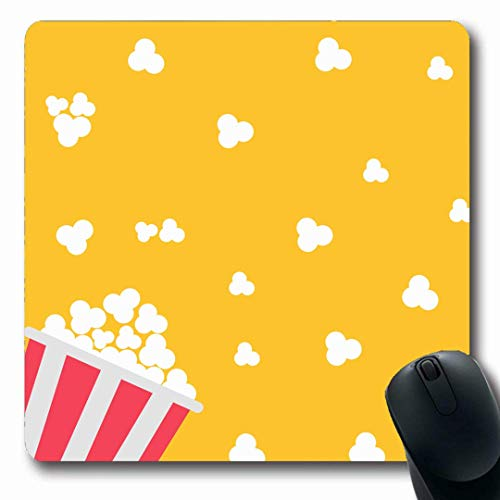 Mousepads Pink Popcorn Cinema Flache Food Cinematography Drink Red Corn Night Dessert Design Salz Längliche Form rutschfeste Gaming Mouse Pad Gummi Längliche Matte,Gummimatte 11,8