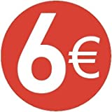 6 € EURO - Pack de 200-13mm rojo - Precio Pegatinas