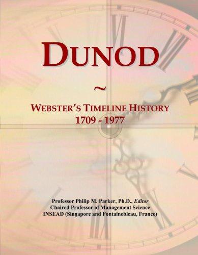 Dunod: Webster's Timeline History, 1709 - 1977