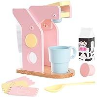 KidKraft 63380 Set Giocattolo di Caffè in Legno per Bambini, Giochi di Imitazione con Accessori Inclusi - Colori Pastello
