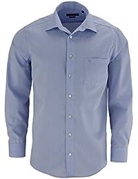 CASAMODA Comfort Fit Hemd extra langer Arm Chambray hellblau AL 69