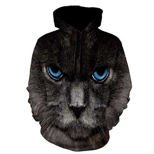 ZZBO Herren Kapuzenpullover Hoodie 3D Tiger Pferd Löwe Tier Gedruckt Hoody Pullover Sweatshirt Winter Warm Kapuzenshirt mit Kängurutasche für Sport Freizeit Zuhause M-XXXL