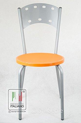 Sedie In Alluminio Per Cucina.Stil Sedie Sedia Da Cucina Con Struttura In Metallo Verniciato