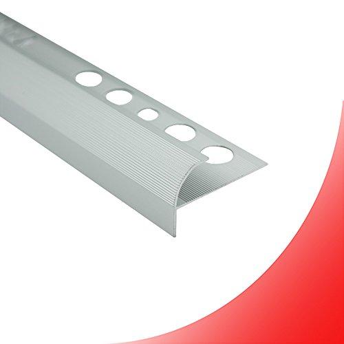 Alu Stufenprofil Fliesenschiene Profil Treppe Schiene matt L270cm H10mm silber