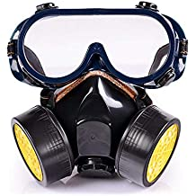 Umiwe Mascarilla química Ligera de Cara Máscara antigás Respirador con Gafas para Polvo ácido Pintura de