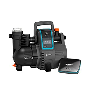 Gardena Kit smart Pressure Pump : station de pompage à commande par app/tablette, avec passerelle smart Gateway, débit 5 000 l/h, protection contre le fonctionnement à sec, joint céramique (19106-20)