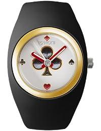 IoIon  BU-B1K05 - Reloj de cuarzo unisex, con correa de silicona, color negro