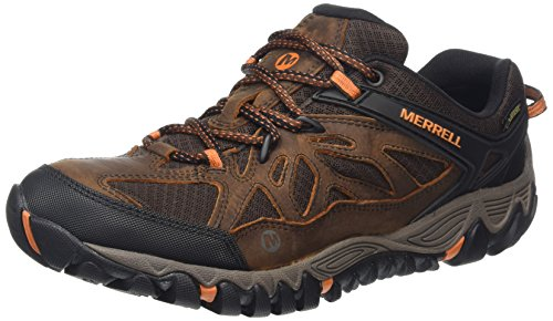 Merrell Out Blaze Ventilator Gore-Tex, Scarpe da Arrampicata Uomo Marrone (Brown/Burnt Maple)
