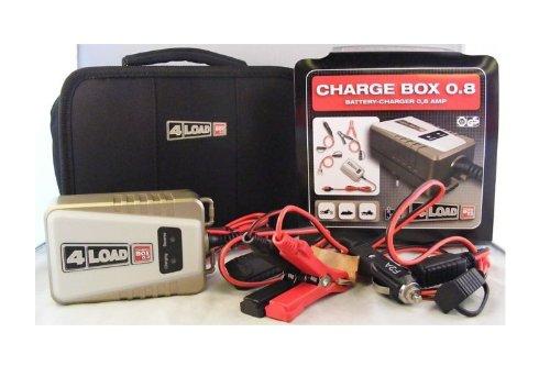 Ladegerät Charge Box 0.8 speziell für Motorrad-und Rollerbatterien