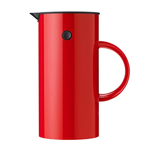 Stelton EM Kaffeezubereiter/Pressfilterkanne, rot 1L