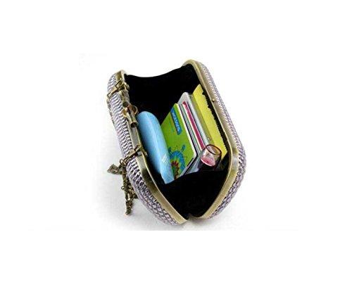 Borse Telefono Borsa Da Sera Signora Cellulari Delle Donne Con Fibbia A Righe Moda Gray
