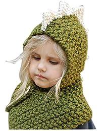 6fb6170de3777 CGN Animal Tejer Sombrero niños Capucha Bufanda Invierno Suave Caliente  Crochet Lindo Dinosaurio Beanies para niñas