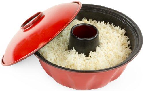 Andrew James Gugelhupfform und Reisschüssel für Backöfen und Halogenöfen   Antihaftbeschichtete Oberfläche   Leicht zu Reinigen