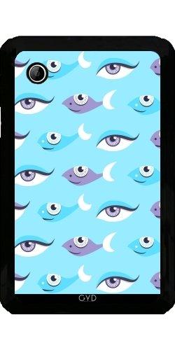 Hülle für Samsung Galaxy Tab 2 P3100 - Spaßmuster Der Augen Und Fisch by Boriana Giormova (2 Fisch-auge Blaue)