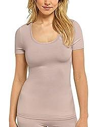 Schiesser Damen Personal Fit Shirt 1/2 Arm Unterhemd, Braun (braun 300), 40 (Herstellergröße: L)