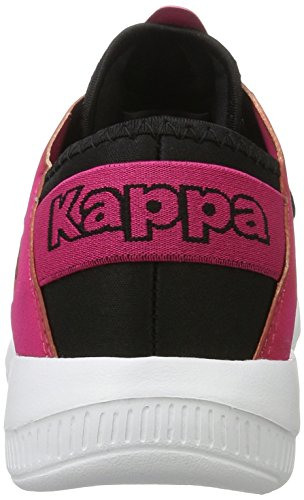 Kappa Horus, Scarpe da Ginnastica Basse Unisex-Adulto Nero (1122 Black/pink)