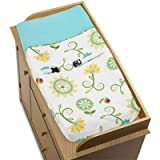 Türkis und Lime Layla Baby Windel Wickelauflage Bezug by Sweet Jojo Designs